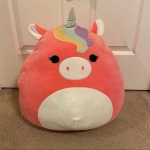 "Squishmallow Ilene 18"" Pink Rainbow Mane Unicorn"